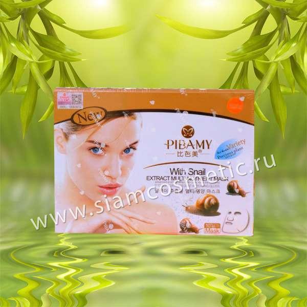 Регенирирующая тканевая улиточная маска Pibamy Snail Mask