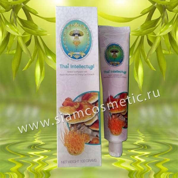 Элитная безсульфатная зубная паста с грибом Линчжи